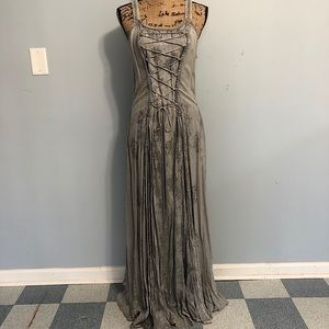 NWT! Braja Renaissance Boho Gray Dress Free Size